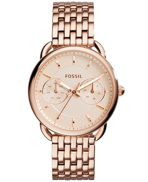 8b2d15fc68aca Women's Tailor Rose Gold-Tone Stainless Steel Bracelet Watch 35mm ES3713