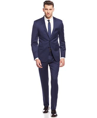 DKNY New Navy Chino Extra Slim-Fit Suit - Suits & Suit Separates ...