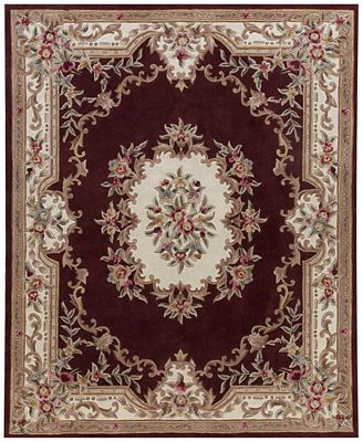 Km Home Dynasty Aubusson Burgundy Area Rugs Rugs Macy S