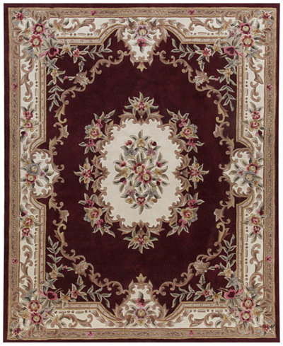 KM Home Dynasty Aubusson Burgundy Area Rugs