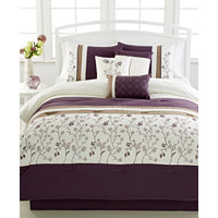 Bella Donna Plum 7-Pc. Comforter Set