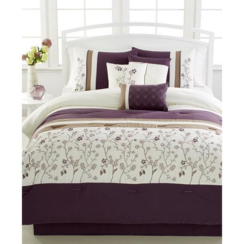 Bella Donna Plum 7-Pc. Comforter Set