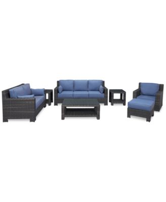 Viewport Outdoor Wicker 7-Pc. Seating Set (1 Sofa, 1 Loveseat, 1 Swivel Glider, 1 Ottoman, 1 Coffee Table and 2 End Tables), Created for Macy's