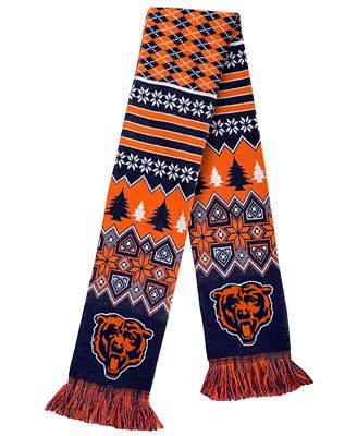 Forever Collectibles Chicago Bears Christmas Sweater Scarf Sports