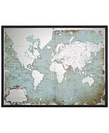 Wall Art, Mirrored World Map