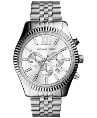 Men's Chronograph Lexington Stainless Steel Bracelet Watch 45mm MK8405