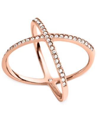 michael kors circle x ring fashion jewelry jewelry watches rh macys com