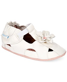 Robeez Soft Soles Pretty Pansy Shoes, Baby Girls