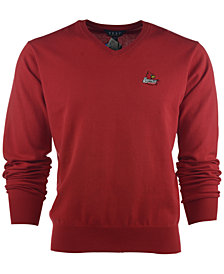 VESI Men's Louisville Cardinals Solid V-Neck Sweater
