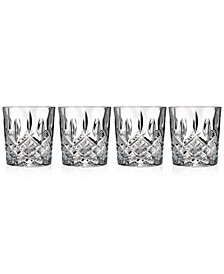 Markham Double Old Fashioned Glasses, Set of 4