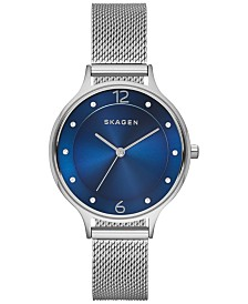 Skagen Women's Anita Stainless Steel Mesh Bracelet Watch 30mm SKW2307