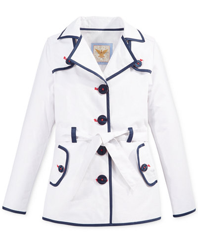 Tommy Hilfiger Piped Trench Coat, Big Girls (7-16) - Coats ...