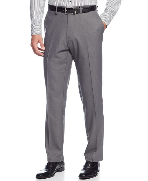 Kenneth Cole Reaction Closeout Straight Fit Stretch Gabardine Solid