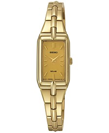 Women's Solar Gold-Tone Stainless Steel Bracelet Watch 15mm SUP276