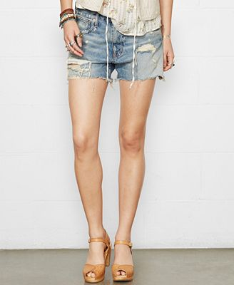 Denim & Supply Ralph Lauren Distressed Denim Boyfriend Shorts