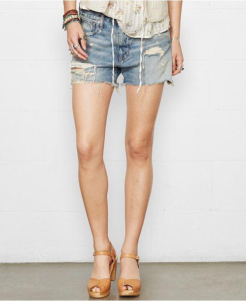 66b6fc95f ... Denim & Supply Ralph Lauren Distressed Denim Boyfriend Shorts ...
