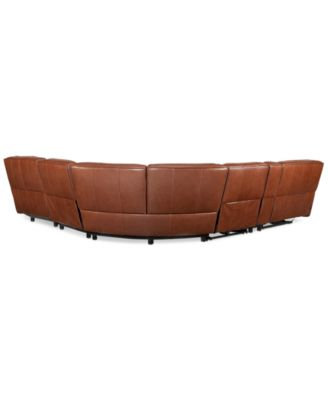 furniture closeout beckett 6 pc leather sectional sofa with chaise rh macys com