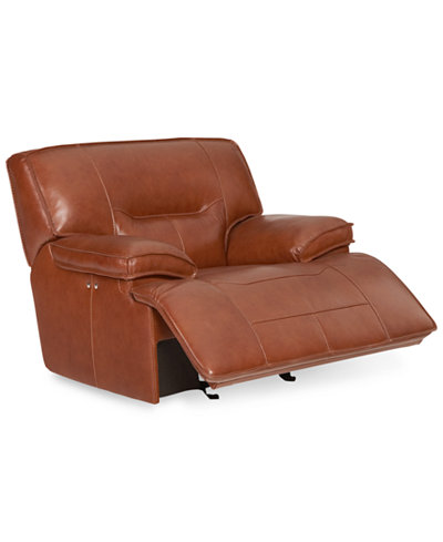 CLOSEOUT! Beckett Leather Power Glider Recliner, Created for Macy's