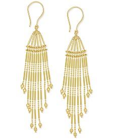 Multi-Strand Bead Chandelier Earrings in 14k Gold