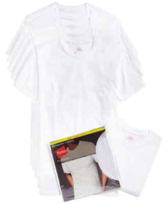 hanes white t