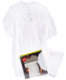 hanes men's crew-neck Undershirts 5-pack + 1 extra bonus Undershirt