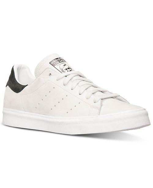 new concept 2f01a 9e0ed adidas Men's Stan Smith Vulc Nubuck Casual Sneakers from ...