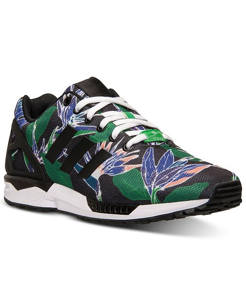 best sneakers 364e8 13abf adidas Men's ZX Flux Floral Print Casual Sneakers from ...