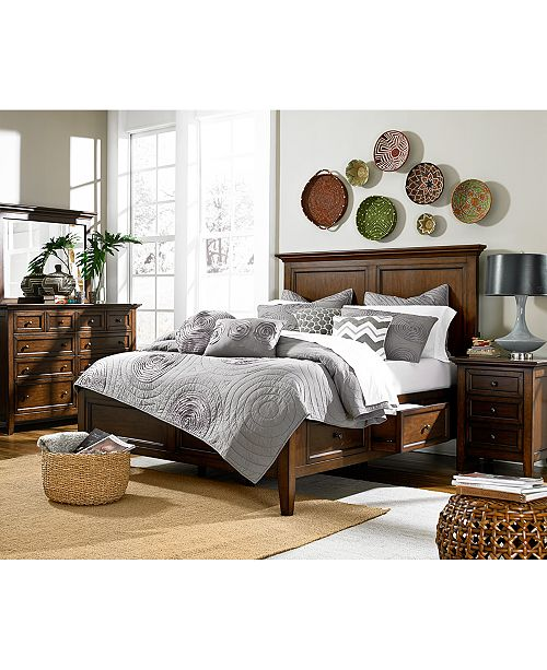 . Matteo Storage Platform Bedroom 3 Piece Bedroom Set  Created for Macy s    King Bed  Dresser and Nightstand