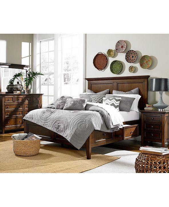 Furniture Matteo Storage Platform Bedroom 3 Piece Bedroom Set, Created for Macy's,  (Queen Bed, Dresser and Nightstand)