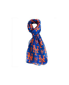 Forever Collectibles New York Mets All Over Logo Infinity Scarf