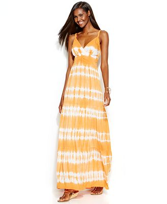 INC International Concepts Tie-Dye Maxi Dress - Dresses - Women ...