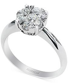 EFFY® Diamond Halo Ring in 14k White Gold (3/5 ct. t.w.)