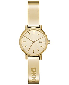 Women's Soho Gold-Tone Stainless Steel Half-Bangle Bracelet Watch 24mm NY2307