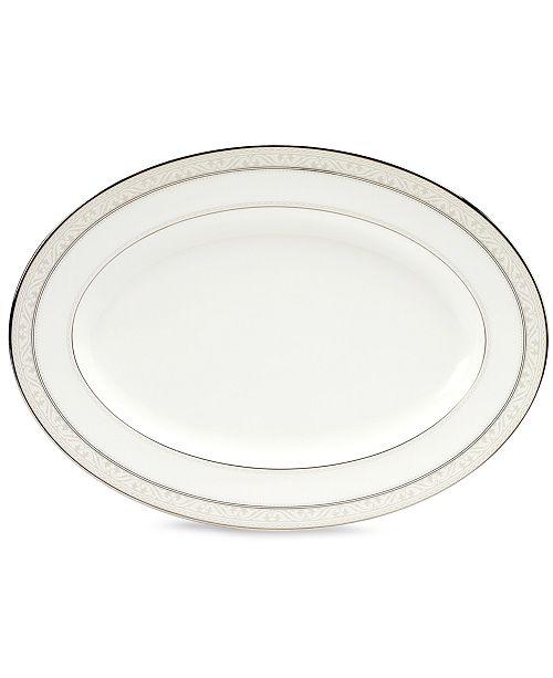 "Noritake ""Montvale Platinum"" Oval Platter, 12"""