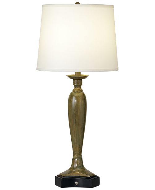 Kathy Ireland CLOSEOUT! Pacific Coast Triangular Base Table Lamp