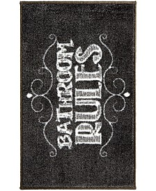 Bath Rugs and Mats   Macy s Chalk It Up Bath Rug. Black And Gold Bathroom Rugs. Home Design Ideas
