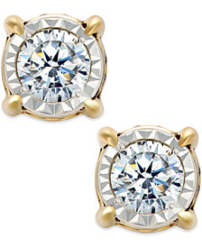 TruMiracle® Diamond Stud Earrings (3/4 ct. t.w.) in 14k White Gold, Rose Gold or Gold