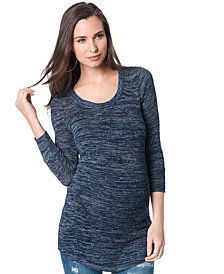 A Pea In The Pod Maternity Scoopneck Three-Quarter-Sleeve Sweater