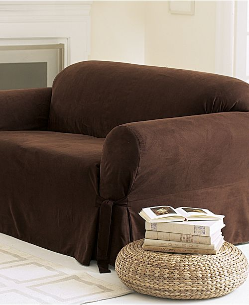 Sure Fit Soft Faux Suede Sofa Slipcover Slipcovers
