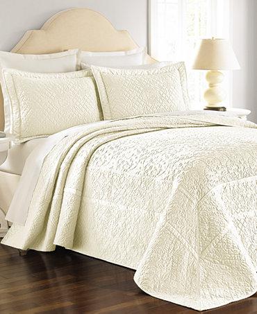martha stewart collection flowering trellis ivory bedspreads quilts bedspreads bed bath. Black Bedroom Furniture Sets. Home Design Ideas