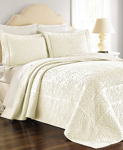 CLOSEOUT! Martha Stewart Collection Flowering Trellis Ivory ... : macys bedding quilts - Adamdwight.com