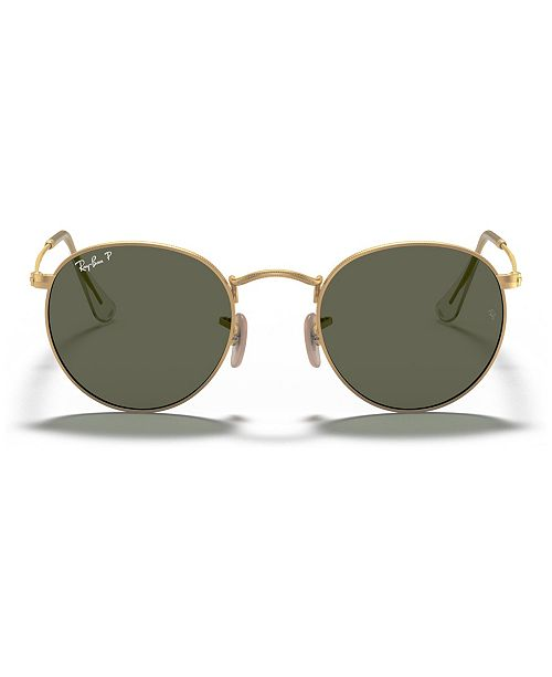 Ray-Ban Polarized Sunglasses , RB3447 ROUND METAL