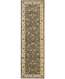 "Wool and Silk 2000 2003 Olive 2'6"" x 12' Runner Rug"