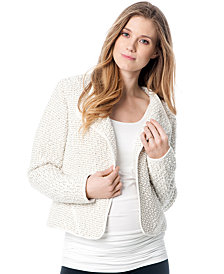 A Pea in the Pod Maternity Collarless Crop Jacket