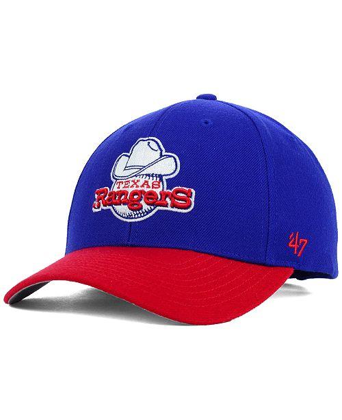 '47 Brand Texas Rangers MVP Curved Cap
