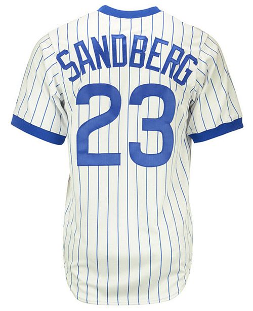 sale retailer d18c0 23752 Ryne Sandberg Chicago Cubs Cooperstown Replica Jersey
