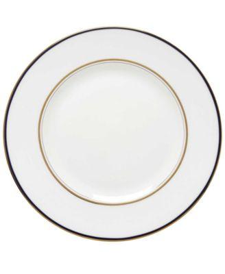 Library Lane Navy Dinner Plate