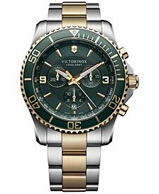 Men's Chronograph Maverick Two-Tone Stainless Steel Bracelet Watch 43mm 241693