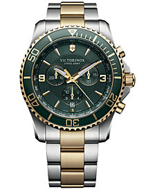Victorinox Swiss Army Men's Chronograph Maverick Two-Tone Stainless Steel Bracelet Watch 43mm 241693