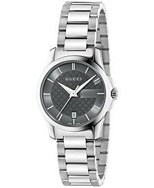 Gucci Women's Swiss G-Timeless Stainless Steel Bracelet Watch 27mm YA126522